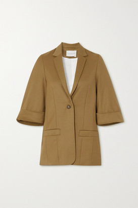 KING & TUCKFIELD Wool-twill Blazer - Light brown