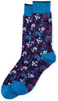 Duchamp Patterned Flower Crew Socks