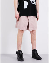 Julius Asymmetric Panel Stretch-cotton Shorts