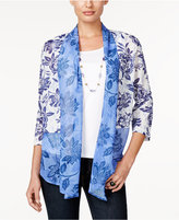 Alfred Dunner Cyprus Collection Layered-Look Printed Top