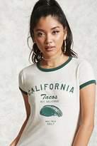 Forever 21 FOREVER 21+ Tacos Graphic Ringer Tee