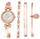 Anne Klein Four-Piece Bracelet Watch Set