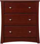 Stork Craft STORKCRAFT Storkcraft Crescent 3-Drawer Nursery Dresser - Cherry