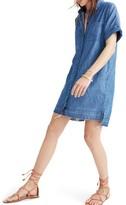 Madewell Women's Raw Edge Denim Shirtdress