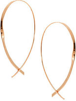 Lana Large 14K Flat Curved Hoop Earrings