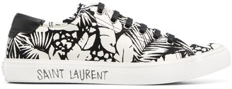 Saint Laurent Malibu printed canvas sneakers