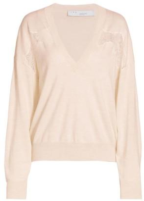 IRO Alto Lace Panel Sweater