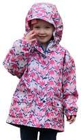 Kids Water-proof Fleece-lined Rain Coat Jacket Hooded By Jan & Jul