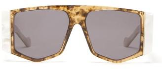 Loewe Logo-print Hexagon Acetate Sunglasses - White