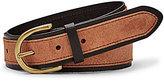 Fossil Color Block Leather & Suede Jean Belt