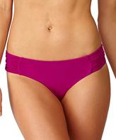 Leilani Plum Classics Shirred-Side Bikini Bottoms