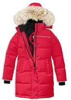 Canada Goose Girls' Juniper Fur-Trimmed Hooded Parka - Big Kid