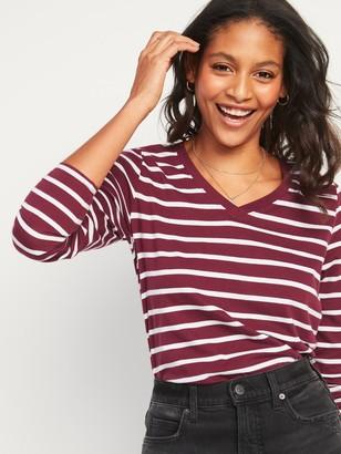 Old Navy EveryWear Striped Long-Sleeve V-Neck Tee for Women