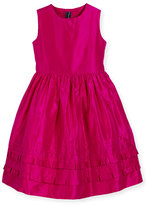 Oscar de la Renta Sleeveless Tiered Silk Taffeta Party Dress, Pink, Size 4-14