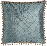 Isabella Collection Grace Teal Diamond European Sham with Onion Trim