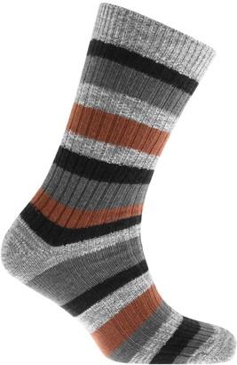 Birkenstock Slub Stripes Socks Brown