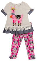 Rare Editions Baby's Two-Piece Llama Top and Leggings Set