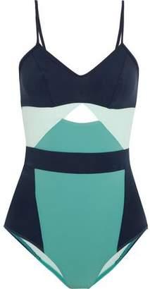 Flagpole Joellen Cutout Color-block Swimsuit