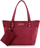 Red Leopard Tote & Wristlet