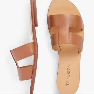 Talbots Hannah Vachetta Leather Slides