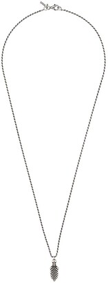Emanuele Bicocchi Skull & Feather necklace
