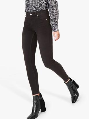Oasis Washed Jade Stretch Skinny Jeans, Dark Grey