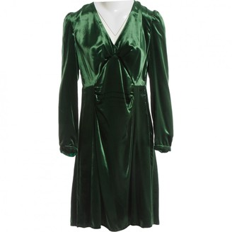 N. Non Signé / Unsigned Non Signe / Unsigned \N Green Viscose Dresses