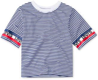Levi's Big Girls Striped Cotton High-Rise T-Shirt