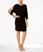 Nine West Cold-Shoulder Blouson Dress