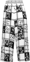 Mother of Pearl Minos printed crepe de chine culottes