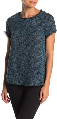 Everleigh Stretch Tweed Short Sleeve T-Shirt