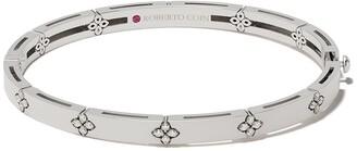 Roberto Coin 18kt white gold diamond Love in Verona bangle bracelet