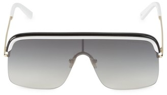 Cutler And Gross 64MM Gradient Shield Sunglasses