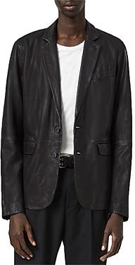 AllSaints Barton Leather Blazer