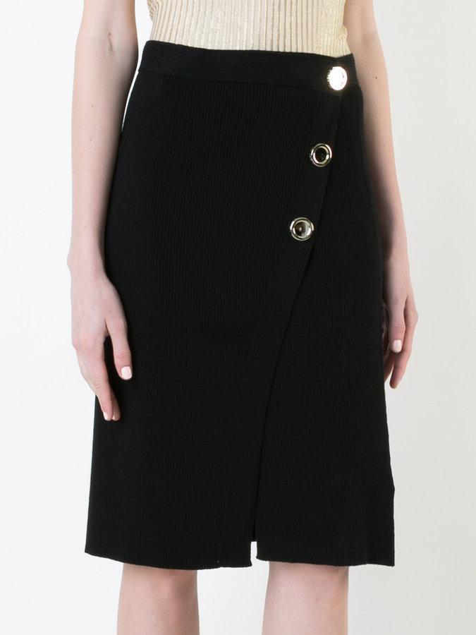 Each X Other button detail skirt