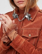 Asos Double Flower Metal Brooch