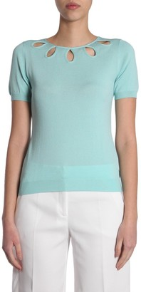Boutique Moschino Cut-Out Neckline Top