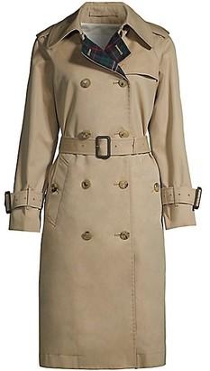 MACKINTOSH Muirkirk Wool Plaid & Cotton Twill Trench Coat