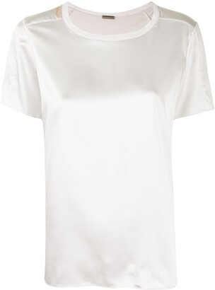 Adam Lippes silk charmeuse T-shirt