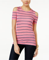 MICHAEL Michael Kors Striped Cold-Shoulder T-Shirt