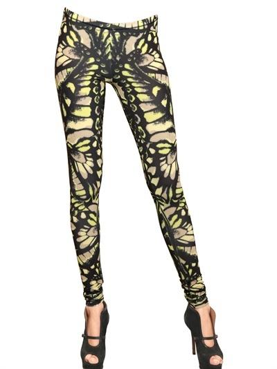 McQ Butterfly Print Lycra Leggings