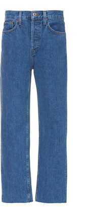 RE/DONE High-Rise Straight-Leg Jeans