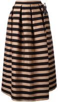 Rochas box pleated skirt