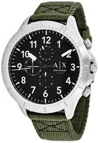 Giorgio Armani Exchange Aeroracer AX1759 Men's Green Nylon and Stainless Steel Chronograph Watch