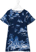 Nice Things China print short-sleeve dress