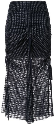 Alice McCall Striped Ruched Skirt