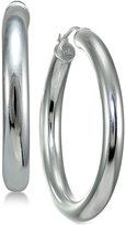 Giani Bernini Polished Tube Hoop Earrings in Sterling Silver, Only at Macy's