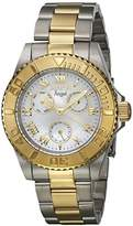 Invicta Women's 'Angel' Quartz Stainless Steel Casual Watch, Color:Two Tone (Model: 17526)