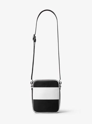 Michael Kors Nikki Striped Calf Leather Crossbody Bag