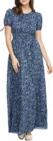 Gal Meets Glam Collections Floral Tie Cuff Maxi Dress